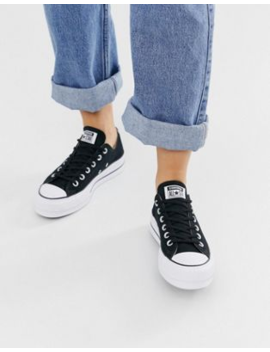 Converse – Chuck Taylor Ox – Schwarze Sneaker Mit Plateausohle by Asos