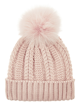 Luxe Pom Beanie Hat by Accessorize