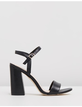 Katrina Leather Block Heels by Atmos&Here
