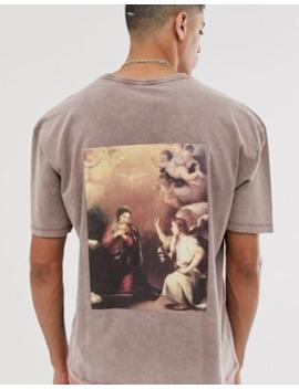 Heart &Amp; Dagger – T Shirt Mit Print Am Rücken by Asos