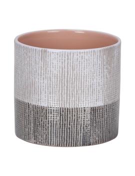 Brown Canvas Pot 828   14cm by Homebase