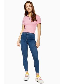 Mittelblaue Joni Jeans Petite Größe by Topshop
