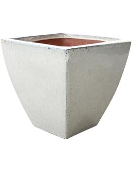 Northcote Pottery Classic Square Planter   Cream by Homebase