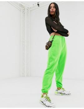 Asos Design – Übergroße, Neonfarbene Jogginghose by Asos