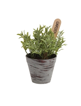 Eden Bloom Artificial Mixed Herb Plant Pots by Homebase