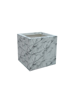 Marble Cube Planter 45cm by Homebase