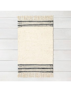 Jute Rug Charcoal Stripe   Hearth &Amp; Hand With Magnolia by Hearth & Hand With Magnolia