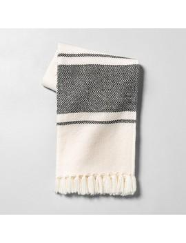 Throw Blanket Sour Cream / Gray Stripe   Hearth &Amp; Hand With Magnolia by Hearth & Hand With Magnolia