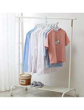 White Multi Function Folding Hanger Anti Skid Clothes Hanging Children's Plastic Drying Rack Magic Hanger by Ali Express.Com