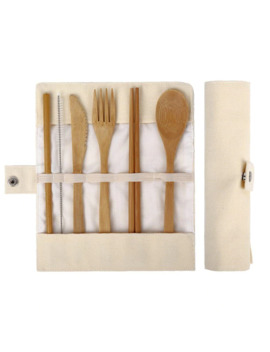 Bamboo Utensils Wooden Travel Cutlery Set Reusable Utensils With Pouch Camping Utensils Zero Waste Fork Spoon Knife Flatware Set by Ali Express.Com
