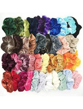 40 Pcs Velvet Scrunchie Women Girls Elastic Hair Rubber Bands Accessories Gum For Women Tie Hair Ring Rope Ponytail Holder by Ali Express.Com