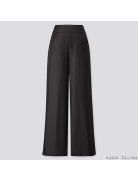 Women Hana Tajima Silk Blend Wide Leg Trousers by Uniqlo