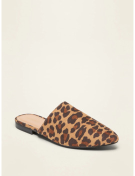 Faux Suede Pointy Toe Mule Flats For Women by Old Navy