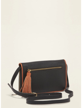 Faux Leather Crossbody Wallet Bag For Women by Old Navy