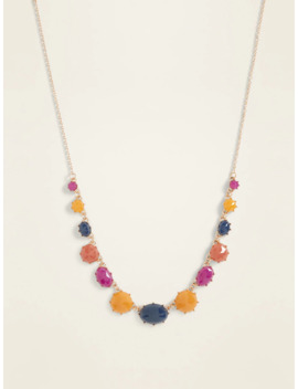 Multi Color Faceted Bead Necklace For Women by Old Navy