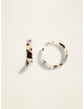 Tortoiseshell Hoop Earrings For Women by Old Navy