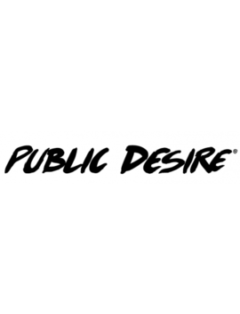 Talk Nude Patent Perspex Block Heels by Public Desire