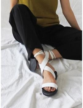 Lilyshoe X Strap Sandal   White by Garmentory