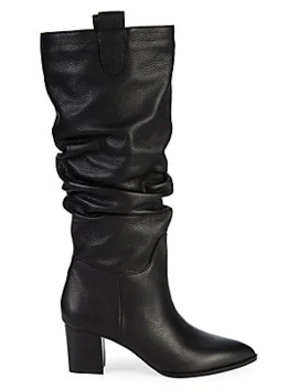 Julia Leather Slouch Tall Boots by Saks Fifth Avenue