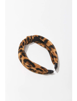 Knotted Leopard Print Headband by Forever 21