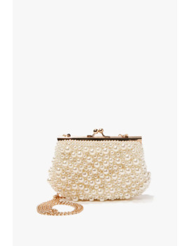 Faux Pearl Clutch by Forever 21