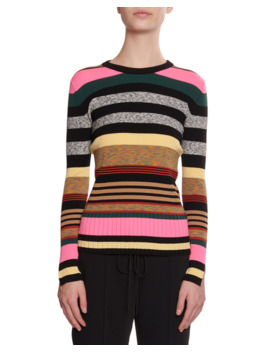 Multicolor Striped Crewneck Sweater by Kenzo