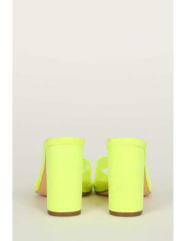 Translucent Pvc Open Toe Chunky Heel Mule by Urbanog