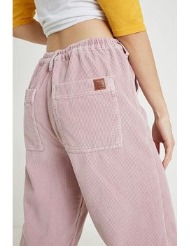 Bdg Pink Corduroy Jogger Trousers by Bdg