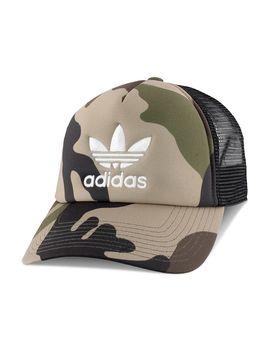 Camouflage Print Trucker Hat by Adidas Originals