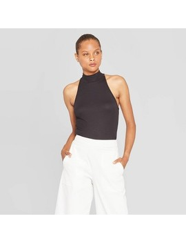 Women's Sleeveless Halter Neck Top   Prologue Black by Prologue Black