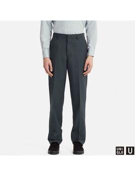 Men Uniqlo U Wide Fit Pants (Set Up) by Uniqlo