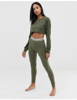 Asos Design Mix &Amp; Match Sporty Super Crop Raw Edge Sweater by Asos Design