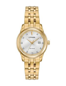 Citizen 26mm Diamond Bracelet Watch, Yellow Golden by Citizen