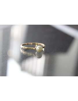 Vintage Pearl Ring In 9ct Gold by Etsy