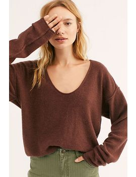 Always Cashmere V Neck Jumper by Free People