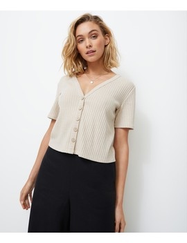 Button Through Knit Tee by Sportsgirl