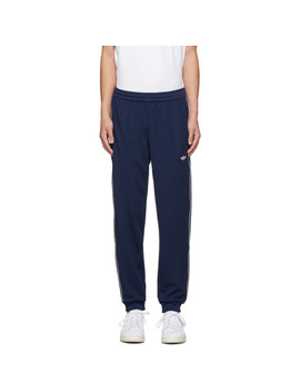 Navy Samstag Track Pants by Adidas Originals
