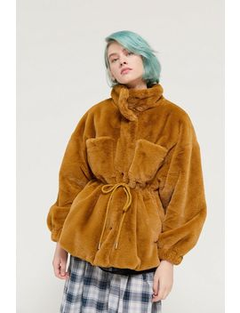 Uo Faux Fur Utility Coat by Urban Outfitters