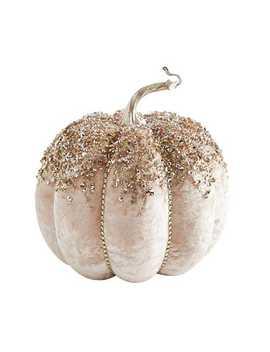 "Champagne Sparkle 9\"" Pumpkin by Pier1 Imports"