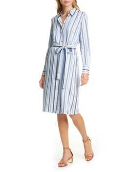 Long Sleeve Stripe Shirtdress by Tory Burch