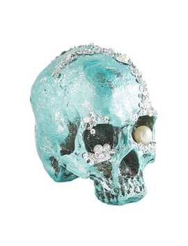 Bejeweled Turquoise Halloween Skull by Pier1 Imports