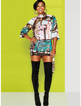 Graffiti Print Shift Dress   Gabrielle Union Collection by New York &Amp; Company