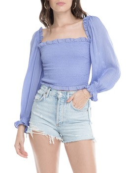 Smocked Balloon Sleeve Top by Astr The Label