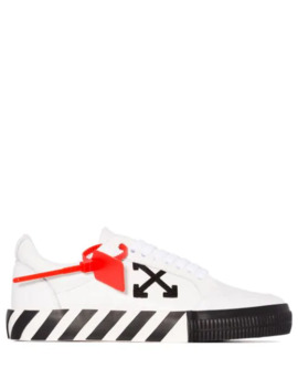 White Carryover Leather Sneakers by Off White