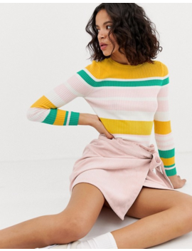 Only Fine Gauge Ribbed Stripe Sweater by Only