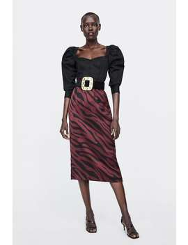 Animal Print Pencil Skirt  Starting From  60 Percents Offsale Woman by Zara