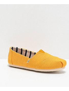 Toms Classic Alpargata Yellow Shoes by Toms Shoes