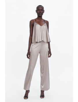 Satin Finish Trousers Collectionwoman Sale by Zara