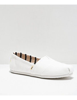 Toms Classic Alpargata All White Shoes by Toms Shoes
