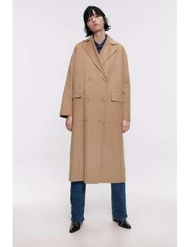 Buttoned Coat Coatswoman by Zara